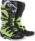 New Redesigned 2014 Alpinestars Tech 7 Motocross Mx Atv Boots Black Green
