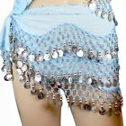 New  Belly Dance Hip Scarf Skirt Wrap Costume 158 Copper Coins Belt USA Seller