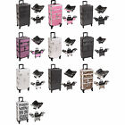 2in1 Rolling Pro Aluminum Makeup Salon Artist Organizer Box Hair Nail Case I3264