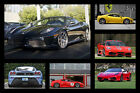 Ferrari F430 430 HD Poster Super Car Collage Print multiple size available