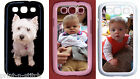 Samsung Galaxy S3 Personalised Photo Custom Phone Case in Black, White or Pink