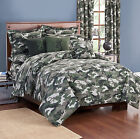 Browning Buckmark Camo Green Comforter Set AND Matching Sheet Set