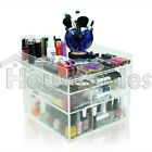 Acrylic Clear Makeup Case Display Box Organizer 3 4 5 6 7 Drawers w/ Top Tray