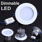 Dimmable LED 3W 5W 7W 9W 12W 18W Ceiling light Recessed Downlight AC Driver Kit