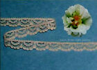 "15/30 Yards Beige 3/8"" Vintage Lace Fabric Trim R133V Buy More-Ship No Charge"