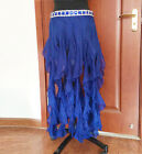 END OF YEAR ON SALE belly dance hip scarf skirt shinny stones ruffle fringes