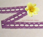 """10/20 Yards 3/4"""" Vintage Purple Fabric Lace Trim 06V Buy More-Ship No Charge"""