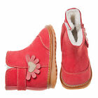 Little Blue Lamb Red Flower Fleece Squeaky Shoes Boots Girl 3 to 7 New in Box