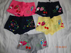 1 New Embroidery Girls Mini Short Love Peace Pink Cherry Star Heart Size XS to M