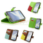 Flip PU Leather Wallet Stand Case Cover for Samsung Galaxy Note II 2 N7100