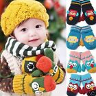 Childrens Girl Boy Winter Gloves Baby Thermal Owl Handmade Robot style gift
