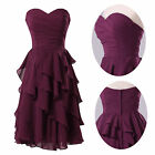 Sexy Lady GK A-line Sweetheart Knee-length Tiered Chiffon Bridesmaid Party Dress