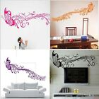 Large Music Note Flying Butterfly Wall Decals Sticker Home Decor removable DIY