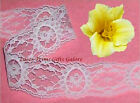 "10/20 Yards White Lace Trim Floral 2"" Medallion M121V Buy More-Ship No Charge"