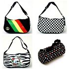 NEW BLACK WHITE MUSIC PIANO KEYS RASTA CHECKER SKULL HAND BAG PUNK SKATER PURSE