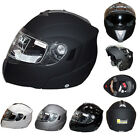 Leopard LEO-839 Flip Up Motorbike Motorcycle Helmet DVS Built-in Dark Sun Visor