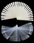 50x Natural / Clear False Nail Art Tips Sticks Polish Display Fan 4 Practice Pop