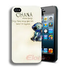 New Style Cute OHANA Hard Plastic Shell Back Case Cover Skin For iPhone 4 4G 4S