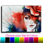 Woman Painting ABSTRACT ART CANVAS Wall Art Print Picture Various Sizes 1