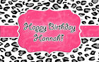 print edible images - PINK LEOPARD PRINT Edible Cake Image Frosting Sheet Topper PERSONALIZED!