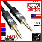 AUX AUXILIARY 3.5mm Cable Male to Male for Car Audio Cord iPhone Samsung HTC 6FT <br/> Gator Cable AUX for LG Apple HTC STRONG RUGGED 5FT 6FT