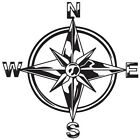 (C-1) TRIBAL COMPASS ROSE NAUTICAL STAR CAR BOAT BIKE WINDOW VINYL DECAL STICKER