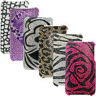 CRYSTAL DIAMOND BLING GEM HARD BACK CASE COVER FOR IPHONE 3G 3GS + SCREEN GUARD