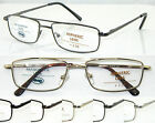 L442 Double Bridge Classic Style Design Metal Reading Glasses Spring Hinges +200