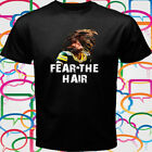 New Clay Matthews Fear The Hair Men's Black T-Shirt Size S-3XL