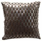 Sb216a Brown Faux Leather Light Brown Faux Fur Cushion Cover/Pillow Case Custom