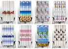 Funky Textile Shower Curtain Extra Long And Wide In 3 Sizes, Different Patterns