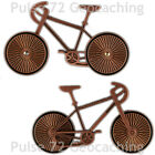 Bike (Bicycle) Geocoin For Geocaching - Rotating Wheels - 2 Finishes Available