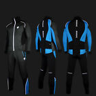 Black Thermal Fleece Cycling Bicycle winter Suits jacket coats Pants with PAD LE