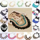 Womens Stylish Bib Statement Vintage Necklace Chain Jewelry Chunky Collar Party