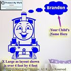 Thomas The Tank Personalised Kids Children Name Vinyl Wall Stickers DecaL 2LG