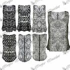 Womens Ladies Sleeveless Zip Baggy Leopard Animal Print Vest Tank T Shirt Top