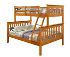 Donco Twin over Full Mission Bunk Bed - Honey -Kids Furni...