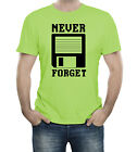 Never Forget To Save File Disc Computer Humor Old School Retro 80s 90s T-Shirt