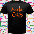 New Alice in Chains Rock Band Logo Men's Black T-Shirt Size S-3XL