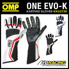 SALE! KK02738 OMP ONE EVO-K KART KARTING RACE GLOVES HIGH-TECH STRETCH FABRIC