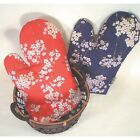 JAPAN/JAPANESE COTTON MITTEN FLOWER DESIGN COOKING KITCHEN