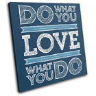 Inspirational Typography SINGLE CANVAS WALL ART Picture Print VA