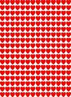 250 Vinyl Heart Stickers 10mm Cards/Crafts/Scrapbook/Laptop Any Colour