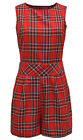 LADIES TARTAN CHECK PRINT TWO POCKET DETAIL ALL IN ONE PLAYSUIT JUMPSUIT SHORTS