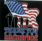 THANK YOU FOR YOUR SACRIFICE UNISEX/MEN SIZE T-SHIRT ARMY NAVY AIR FORCE MARINES