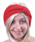Headband Women's Wool Knitted Bow Plain Hairband Ski Earmuff Girls Wide Band New
