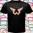 New Paul McCartney and Wings Logo Men's Black T-Shirt Size S-3XL