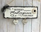 Personalised Mother Children Plaque Wooden Sign birthday gift for her mum