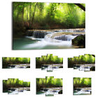47 Shapes Canvas Picture Print Wall Art Landscape Waterfall Stream Forest 2463 E