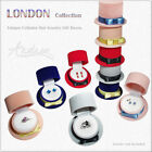 Cylinder Hat Jewelry Gift Boxes London Collection for Ring, Stud Earring, Brooch